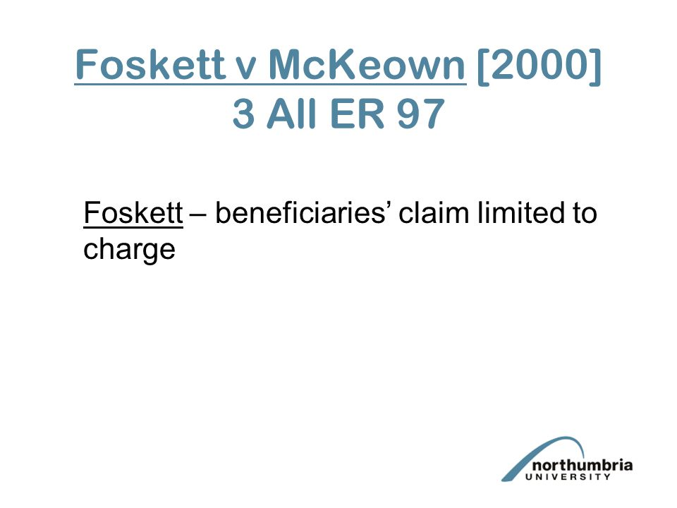 Foskett v McKeown [2000] 3 All ER 97